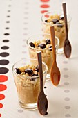 Coffee-flavored rice pudding
