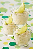 Lime-flavored rice pudding