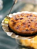 Savoury orange-flavored quiche from Rosa de Jericó Patisserie