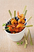 Spicy shrimp brochettes