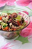 Octopus and cucumber salad