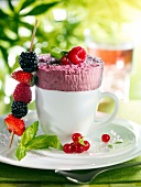 Summer fruit ice cream soufflé