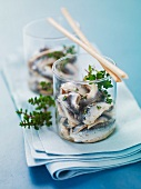 Anchovy salad with thyme and lemon