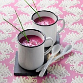 Chilled red beetroot soup