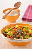 Rindfleisch-Gemüse-Eintopf süss-sauer