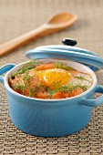 Coddled egg with salmon