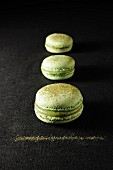 Matcha green tea macaroons