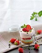Strawberry and pistachio Tiramisu