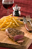 Rump steak with french fries
