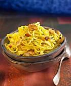 Spaghettis with guindilla pepper and garlic
