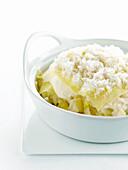 Fennel,cauliflower and parsnip lasagnes