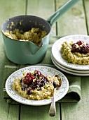 Quinoa porridge with blackberries and redcurrants