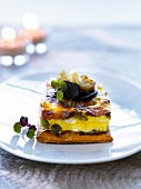 Flaky pastry with oyster,mushroom and truffle omelette