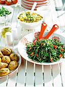 Salad buffet outdoors