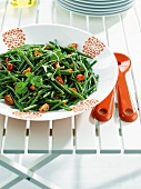 Green bean and cherry tomato salad with coriander