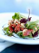 Salat mit Tintenfisch