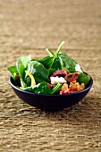 Spinach,roquefort and dried fruit salad