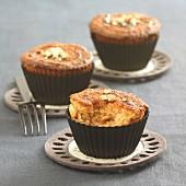 Ahornsirup Cupcakes mit Cashew-Kernen