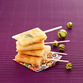 Cream cheese filo pastry lollipops
