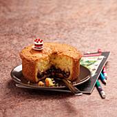 Sponge and cherry jam cake