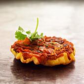 carrot tatin tart with cumin and coriander