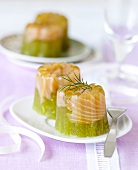 jellied cucumber with smoked salmon