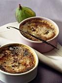 Fig and vanilla Crème brûlée