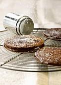 All chocolate mini pancake sandwiches