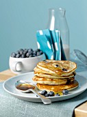 Blueberry Scottish pancakes