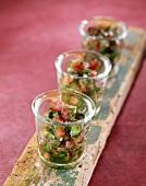 Tuna, lychee and Swiss chard Verrine