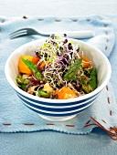 Squash and asparagus salad