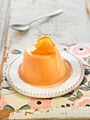 Orange baked egg custard