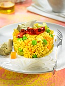 Saffron rice with vegetables