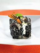 Rice with squid ink and gambas