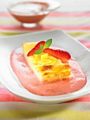 Fromage blanc tart with strawberry fool