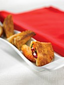 Goat's cheese and vegetable Empanadillas