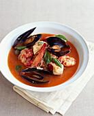 Seafood and tomato soup