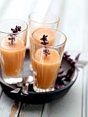 Peach,orange and lemon cocktail