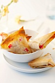 Apple and redcurrant filo pastry pies