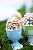 Decorated Easter egg cakes