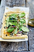 Ham and spinach tart