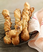 Gruyère and cumin flaky pastry straws