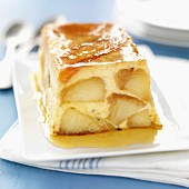 Apple and caramel terrine