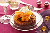Crisp potato cake with smoked salmon