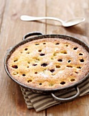 Almond and grape pie