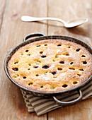 Mandelkuchen mit Weintrauben