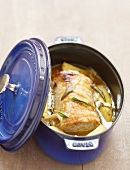 Roast pork glazed with sage