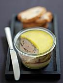 Cocoa-flavored duck foie gras