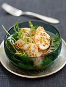 Spiny lobster,sesame seed and orange salad