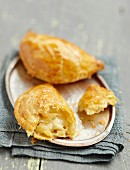 Apple and Rocamadour cheese turnovers